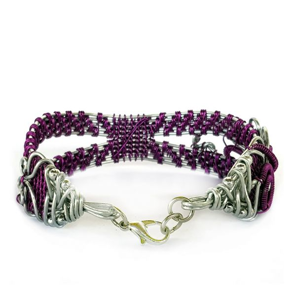 Bracelet - Wire Wrap - Purple