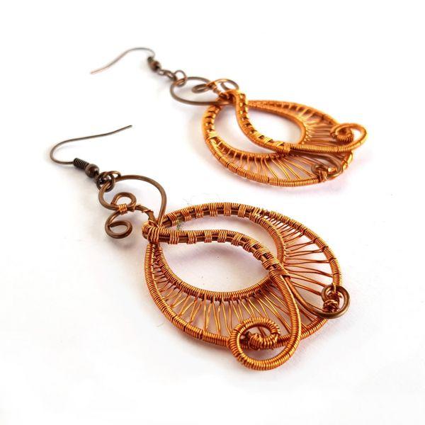 Earrings - Copper Wire - Hoop