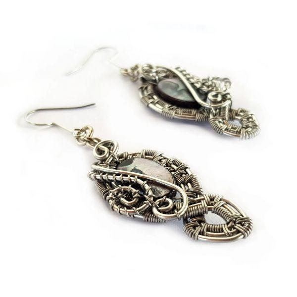 Earrings - Mother of Pearl - Black