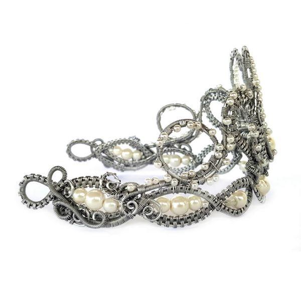 Tiara - Pearl - Aluminium Wire