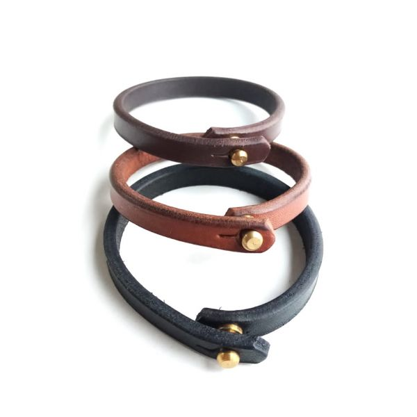 Leather (Single) Holster Bracelet - Chestnut