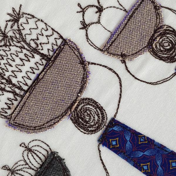 Market 2 - Textile Art - A4