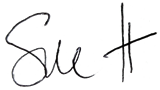 Signed by Sue Heathcock